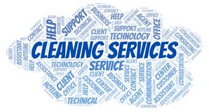 Cleaning Services word cloud stock illustration