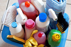 Cleaning set stock image