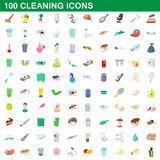 100 cleaning set, cartoon style. 100 cleaning set in cartoon style for any design illustration vector illustration