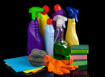 Cleaning set for home Royalty Free Stock Images