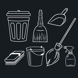 Cleaning set Royalty Free Stock Image