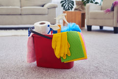 Cleaning set ready for using Stock Image