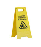 Cleaning Sign Stock Photography