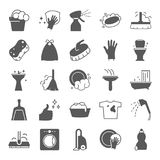 Cleaning simple icons set for web and mobile design. Cleaning simple icons set for web and mobile royalty free illustration