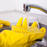 Cleaning sink Royalty Free Stock Image