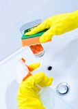 Cleaning sink and faucet Royalty Free Stock Photography