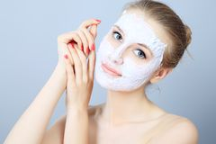 Cleaning skin Royalty Free Stock Image
