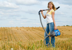 Cleaning of the sky Stock Photography