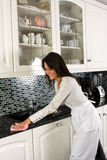 Cleaning with a smile Stock Photos