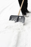 Cleaning of a snow Stock Photo