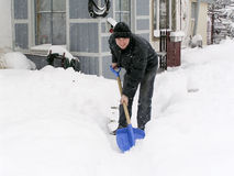 Cleaning snow Royalty Free Stock Photos