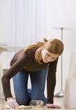cleaning spill woman Στοκ Εικόνες