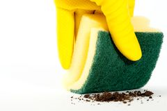 Cleaning sponge Royalty Free Stock Photography