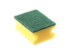 Cleaning sponge. Over a white background Royalty Free Stock Images