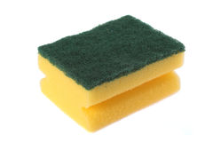 Cleaning sponge. Image of a kitchen sponge isolated on white royalty free stock image