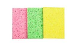 Cleaning sponge for washing isolated on white background Royalty Free Stock Photos
