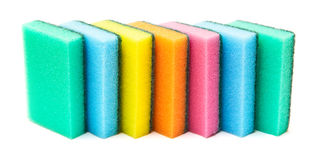 Cleaning sponge isolated Stock Images