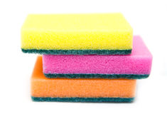 Cleaning sponge isolated Royalty Free Stock Images