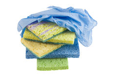 Cleaning sponge stack Royalty Free Stock Images