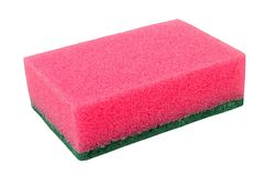 Cleaning sponge on white Stock Images