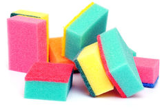 Cleaning sponges. On the white background Stock Images
