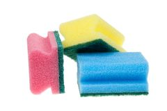 Cleaning sponges Royalty Free Stock Photography