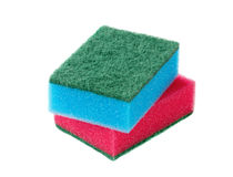 Cleaning sponges isolated Royalty Free Stock Photography