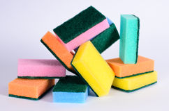 Cleaning sponges Royalty Free Stock Images