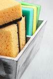 Cleaning sponges Royalty Free Stock Photo