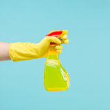 Cleaning spray Stock Photos