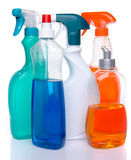 Cleaning spray products Royalty Free Stock Photo