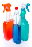 Cleaning spray products Royalty Free Stock Photos
