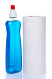 Cleaning spray with a roll of paper towels Stock Photography