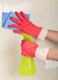 Cleaning sprayer Stock Photo