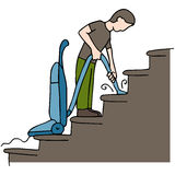 Cleaning Stairs Royalty Free Stock Image