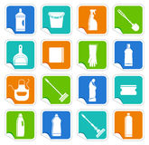 Cleaning stickers Royalty Free Stock Photo