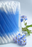 Cleaning sticks. Blue cleaning sticks Royalty Free Stock Image