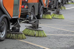 Cleaning of streets Royalty Free Stock Image