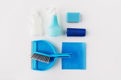 Cleaning stuff on white background Stock Photo