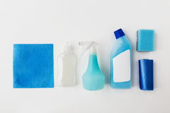 Cleaning stuff on white background Stock Images