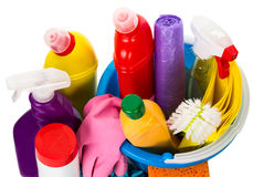 Cleaning subjects, view from above Royalty Free Stock Photos