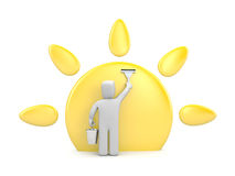 Cleaning of the sun before spring Stock Image