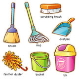 Cleaning supplier. Vector illustration of Cartoon Cleaning supplier vocabulary Royalty Free Stock Photography