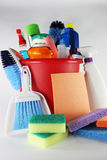 Cleaning Supplies. In a bucket stock image