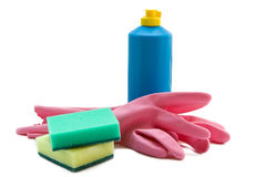 Cleaning supplies Royalty Free Stock Photos