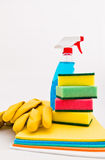 Cleaning Supplies. For tidying up the home or office Royalty Free Stock Photography