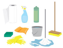 Cleaning Supplies royalty free illustration