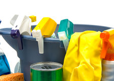 Cleaning supplies Royalty Free Stock Photography