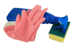 Cleaning Supplies Stock Photography