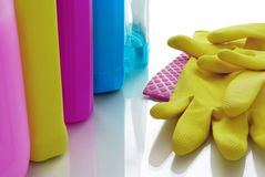 Cleaning supplies Stock Images